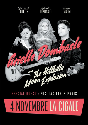 kekeLMB_Arielle_Dombasle_Hillbilly_Moon_Explosion_French_Kiss_Tour_Bus_Palladium_Paris_2015_affiche